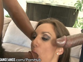 DevilsGangBangs Keira King All Holes Filled with BBC