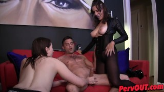Edging HJ BJ with Jessica Fappit and Lance Hart edging lance-hart handjob pantyhose ellez kink blowjob jessica-fappit sweetfemdom fishnets