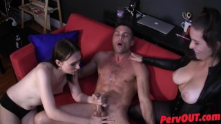 Edging HJ BJ with Jessica Fappit and Lance Hart big boobs jessica fappit lance hart edging handjob pantyhose ellez kink big tits blowjob sweetfemdom fishnets