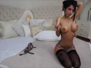 Anisyia LiveJasmin messy blowjob spit on huge tits
