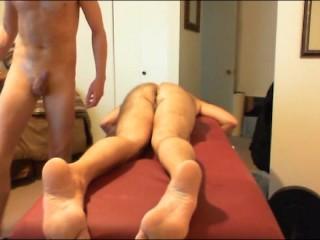 Dad Gets BB ANAL Massage-prt3