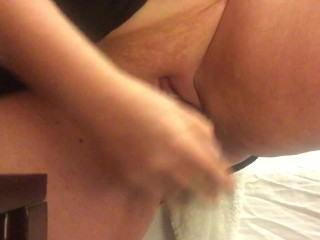 Thick Redhead Rubs and Fucks Her Slutty Pussy