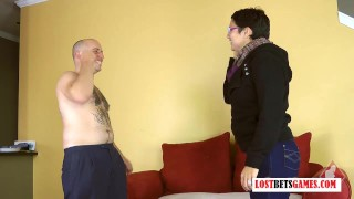 Bald Guy Gets Destroyed and Strip Rock Paper Scissors