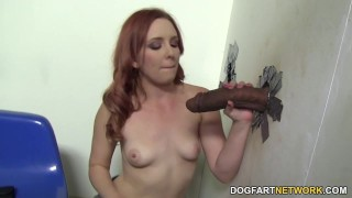 Miss Marie Cheats With Black Cock - Gloryhole  bbc big-cock redhead blowjob gloryhole pornstar fetish hardcore big-black-cock kink interracial dogfartnetwork glory-hole gagging deepthroat big-dick