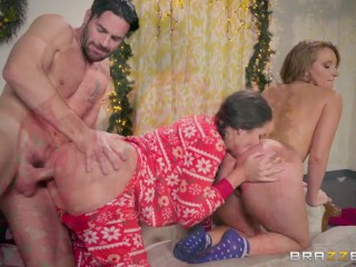 Allie and Harley and their butflap onsies - Brazzers