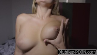 nubiles-porn step-sis step-brother young babe blonde busty natural-tits big ass point-of-view deepthroat riding reverse-cowgirl cumshot kandance-kayne