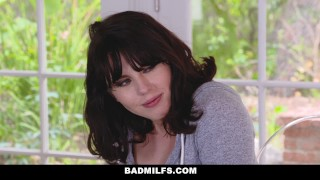BADMilfs - Jacked off & fucked while being tutored by Step Mom step-son 3some teamskeet milf mom blonde tease mother group-sex threesome big-tits small-tits brunette badmilfs stepmom busty facial