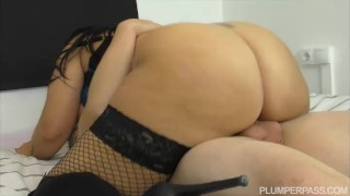 plumperpass chubby thick stockings raven drilled pounded twosome busty 69