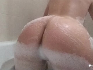 DIRTY PUSSY GETTING WASHED (SHOWER MASTURBATION POV)