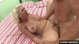 Blonde wife takes huge cock  hardcore housewife mandy sweet dothewife cuckold cumshot wife blowjob blonde