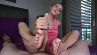 Sasha's foot fuckery  handjob footjob sasha foxxx blowjob amateur