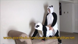 Just two Horny sexy Pandas.....- Ourdirtylilsecret  panda bear blonde amature fuck cumming amateurs girls costume verified bent pandastyle ourdirtylilsecret onesie pajamas moan