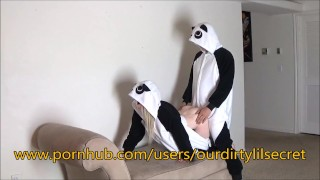 Just two Horny sexy Pandas.....- Ourdirtylilsecret  pandastyle ourdirtylilsecret verified bear moan blonde amature fuck cumming amateurs girls costume panda bent onesie pajamas