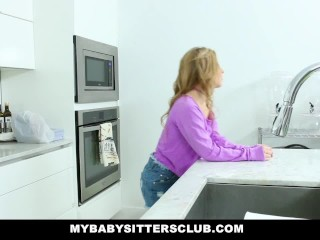 Mybabysittersclub - cute young babysitter fucks dad for revenge