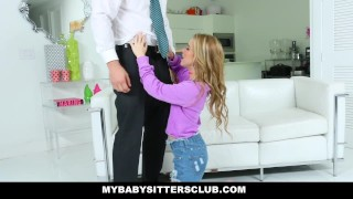 MyBabySittersClub - Cute Young Babysitter Fucks Dad For Revenge  mybabysittersclub baby sitter blonde cumshot babysitter skinny teamskeet boss petite shaved facialize facial