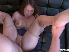 Cheating wife Akari getting her wet pussy placed in check