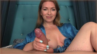 Mistress T Hanjob  handjob milf brunette kink kinky close up point of view mistress t big cock pov fetish big dick