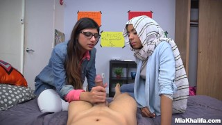 Blowjob lessons with mia khalifa an..