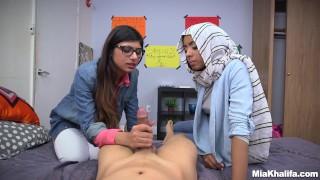 Blowjob Lessons with Mia Khalifa and Her Arab Friend (mk13818)