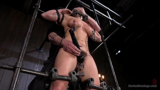 Big Tit Squirter BDSM  metal bondage pain bdsm submission humiliation straight domination squirting devicebondage flogging fingering bondage weights handler corporal punishment