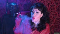 JOI Smoking Trance Erotic Hypnosis Edging Leather Mistress Mesmerize