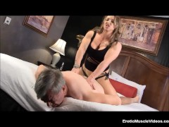 Muscle Goddess BrandiMae Teaches Dirty Old Man Lesson #2