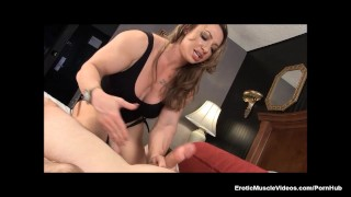 Muscle Goddess BrandiMae Teaches Dirty Old Man Lesson #2  anal play pegging big-cock adult-toys masturbate hot latina busty toys handjob kink eroticmusclevideos fbb muscle latin hot mom