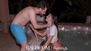 BAEB Adria Rae and James Deen intense hot tub fuck adria rae fellatio hard fast fuck big cock sex shaved pussy drilled babe baeb outdoors public 4k oral natural tits big dick hd 60fps