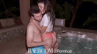 BAEB Adria Rae and James Deen intense hot tub fuck  adria rae fellatio big cock babe baeb outdoors oral hd public big dick 4k 60fps sex drilled natural tits shaved pussy hard fast fuck
