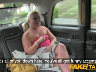 Fake Taxi Bubbly blonde sucks dick in taxi