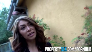 PropertySex - Bad real estate agent fucks client outdoors  real estate agent outdoor pussy-licking point-of-view funny slim blowjob amateur propertysex hardcore brunette cowgirl petite small-tits doggystyle facial