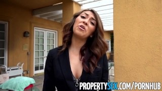 PropertySex - Bad real estate agent fucks client outdoors hardcore slim blowjob amateur outdoor small-tits brunette cowgirl propertysex pussy-licking real estate agent point-of-view funny petite doggystyle facial
