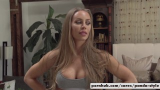 Nicole Aniston & Lucas Frost Panda Style  pandastyle big-cock big-tits outside cosplay doggy-style blowjob blonde public cowgirl spooning costume facial re verse