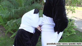 Nicole Aniston & Lucas Frost Panda Style  big-cock big-tits outside cosplay doggy-style blowjob blonde public cowgirl spooning costume facial pandastyle re verse