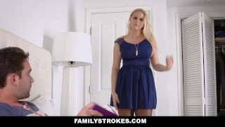 FamilyStrokes - Fucked My Step-Mom on Her Birthday  step-son stepson mom blonde big-boobs taboo bigtits step mother familystrokes shaved mother stepmom naturals bizarre melons juggs