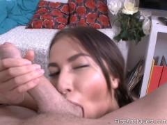 Beauty Leila Croft enjoys brutal anal masturbation