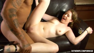 White girl lets a black guy fuck her while her husband watches  hardcore interracial housewife facial haley scott cuckold wife dothewife blowjob