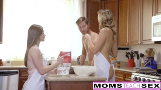 MomsTeachSex - Horny Mom Tricks Teen Into Hot Threeway  brett rossi teen big-tits eighteen blonde blowjob ffm momsteachsex cumshot tattoo milf smalltits daughter petite babes shaved small-tits step-mom doggystyle alice march