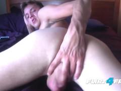 Boy Next Door Dildos His Tight Ass & Shoots a Big Load