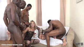 Double Anal Double Penetration Group fuck 4 black men fuck 2 white girls hardcore black hard-rough-sex screaming-orgasm fisting slut double-blowjob double-penetration cumshot anal double-anal interracial blacked-anal ass-fuck group facial