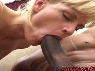 Blonde wifey wants to try some massive black cock!