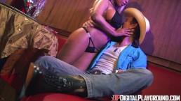 Digital Playground- Latina Stripper Rides Cowboy's Big Dick