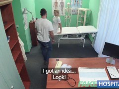 Fake Hospital Hired handyman cums all over pretty nurses bum