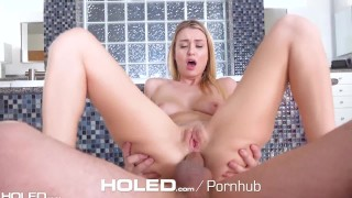 HOLED Lean Natalia Starr gets her asshole stretched with dick