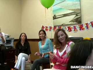 Alaina's dancing bear birthday fiesta with big dick male strippers