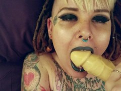 POV Punk Teen Amputee Squirting Spitroast and Cumshot EXTENDED CUT