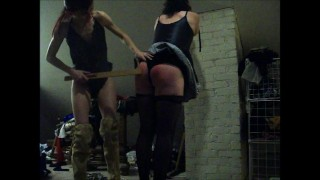 Sultry Goddess Paddles Sissy Maid  french maid bondage femdom humiliation sissy crossdress wife femdom husband bdsm crossdresser femdom paddle sissy kink wife femdom sissy training amateur crossdresser spanking husband femdom amateur paddled ass