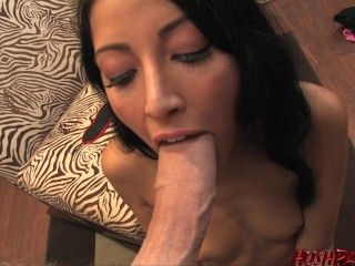 Kimberly gets down on an 11 inch white dick