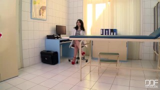 Preview 1 of Busty Blonde slut gets fisted hard in the doctors Office
