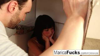 Marica's real doll gets turned on by Alex's big dick  big cock babe asian pornstar puba cumshot missionary hardcore japanese brunette cowgirl petite natural boobs maricahase small boobs natural tits doll maricafucks
